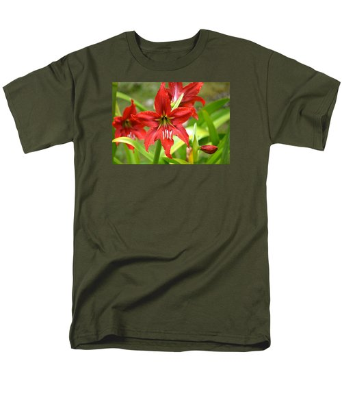 My Red Daylily...after The Rain Men's T-Shirt  (Regular Fit) by Lehua Pekelo-Stearns