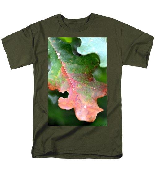 Natural Oak Leaf Abstract Men's T-Shirt  (Regular Fit) by Maria Urso