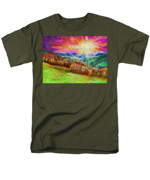 Nature 1  25 2015 Men's T-Shirt  (Regular Fit) by Hidden  Mountain