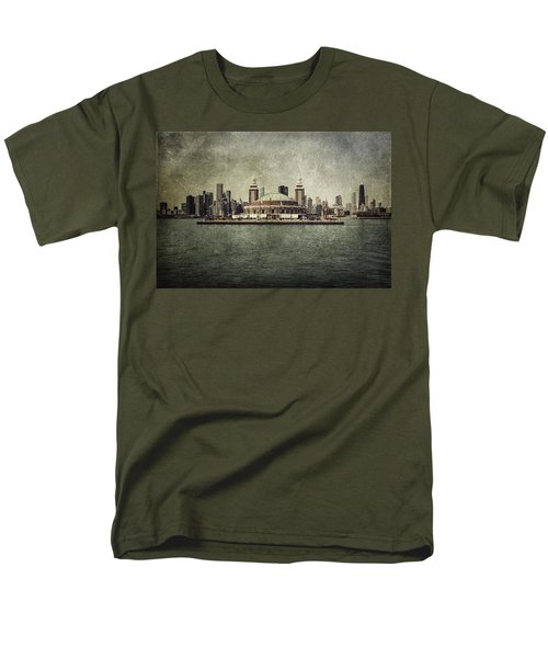 Navy Pier Men's T-Shirt  (Regular Fit) by Andrew Paranavitana