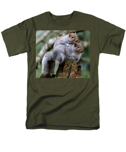 Fifty Shades Of Gray Squirrel Men's T-Shirt  (Regular Fit) by Kym Backland