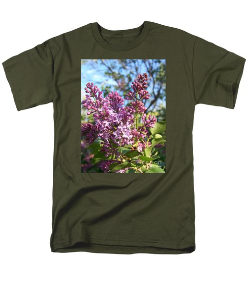 Men's T-Shirt  (Regular Fit) featuring the photograph Purple Lilac by Eunice Miller