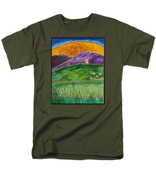 Men's T-Shirt  (Regular Fit) featuring the painting New Jerusalem by Cassie Sears