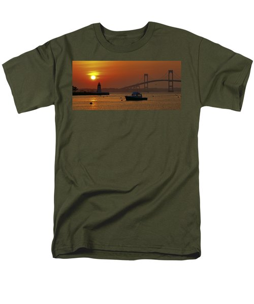Newport Sunset Men's T-Shirt  (Regular Fit) by Lou Ford