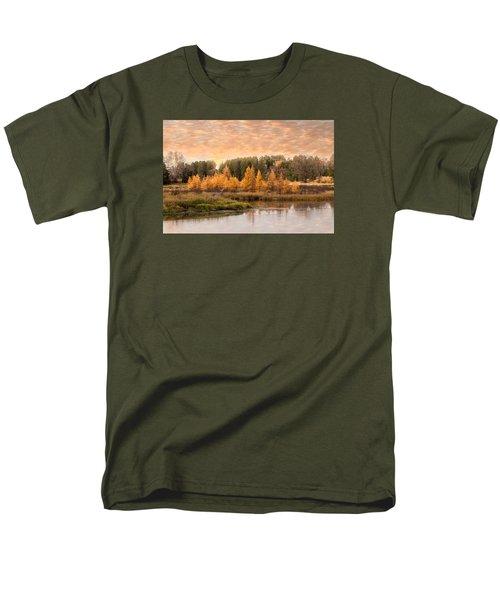 Tamarack Buck Men's T-Shirt  (Regular Fit) by Patti Deters