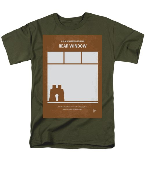 No238 My Rear Window Minimal Movie Poster Men's T-Shirt  (Regular Fit) by Chungkong Art