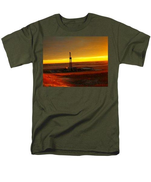 Nomac Drilling Keene North Dakota Men's T-Shirt  (Regular Fit) by Jeff Swan
