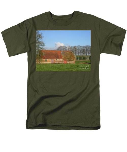 Men's T-Shirt  (Regular Fit) featuring the photograph Normandy Storm Damaged Barn by HEVi FineArt