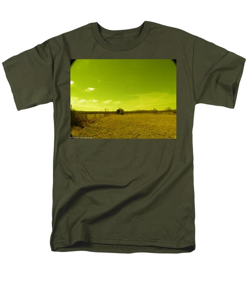 Men's T-Shirt  (Regular Fit) featuring the photograph Nuclear Fencerow by Nick Kirby