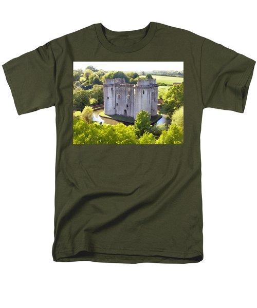 Nunney Castle Painting Men's T-Shirt  (Regular Fit) by Ron Harpham