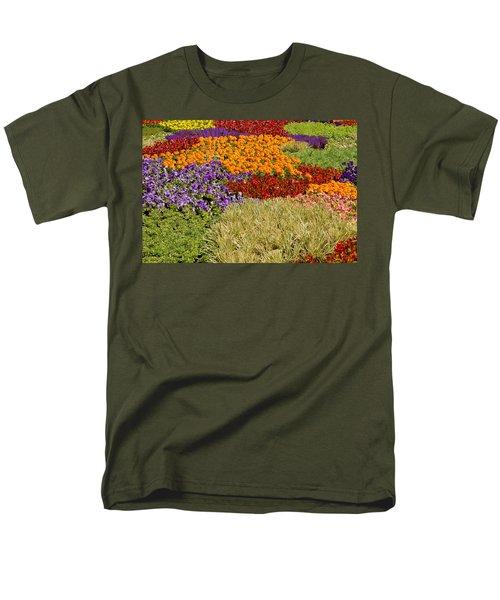Men's T-Shirt  (Regular Fit) featuring the photograph Nursery Potted Garden Plants Arrangement by JPLDesigns