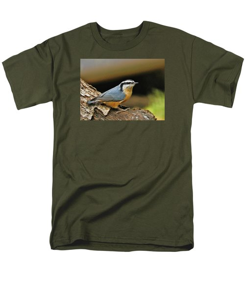 Nuthatch Pose Men's T-Shirt  (Regular Fit) by VLee Watson