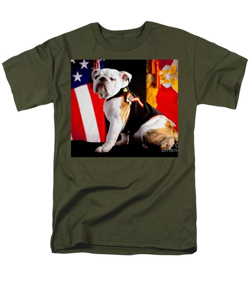 Official Mascot Of The Marine Corps Men's T-Shirt  (Regular Fit) by Pg Reproductions