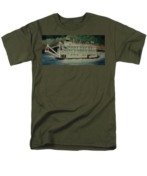 Ohio Riverboat Men's T-Shirt  (Regular Fit) by Christy Saunders Church