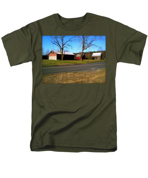 Men's T-Shirt  (Regular Fit) featuring the photograph Old Barn by Amazing Photographs AKA Christian Wilson