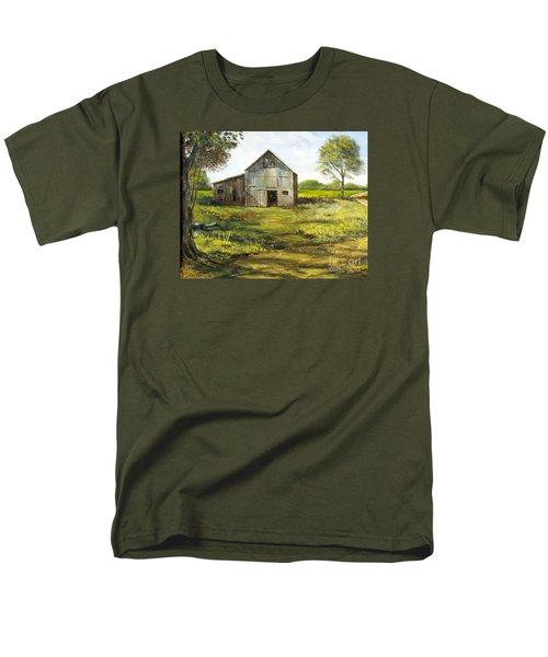 Men's T-Shirt  (Regular Fit) featuring the painting Old Barn by Lee Piper