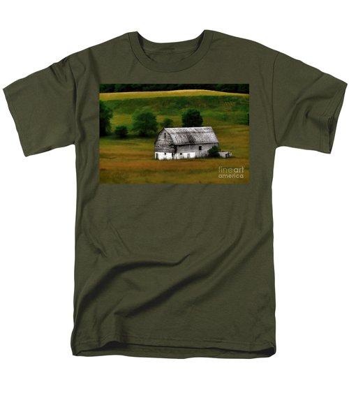 Old Barn Near Buckhannon Men's T-Shirt  (Regular Fit) by Dan Friend