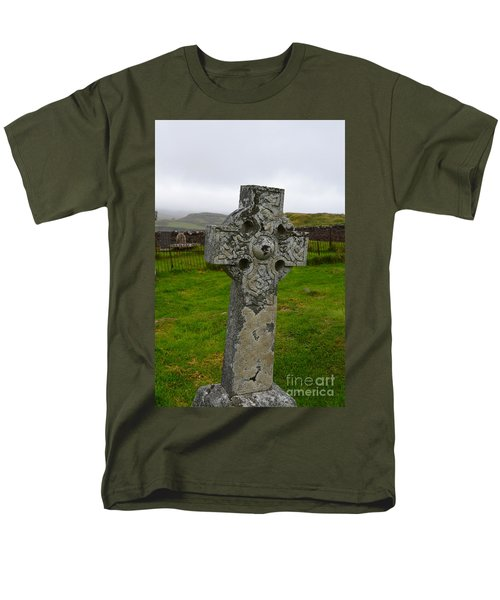 Old Cemetery Stones In Scotland Men's T-Shirt  (Regular Fit) by DejaVu Designs