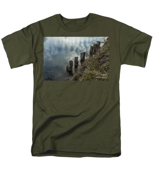 Old Dock Supports Along The Canal Bank - No 1 Men's T-Shirt  (Regular Fit) by Belinda Greb