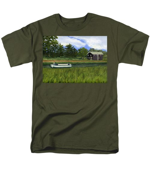 Men's T-Shirt  (Regular Fit) featuring the painting Old Erie by Lynne Reichhart