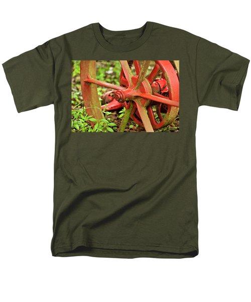 Old Farm Tractor Wheel Men's T-Shirt  (Regular Fit) by Carolyn Marshall