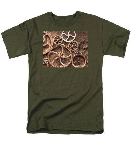 Old Gears In Genoa Nevada Men's T-Shirt  (Regular Fit) by Artist and Photographer Laura Wrede