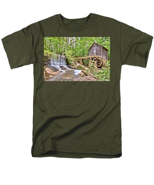 Old Lefler Grist Mill Men's T-Shirt  (Regular Fit) by Gordon Elwell