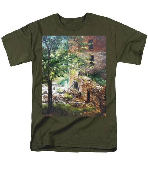 Men's T-Shirt  (Regular Fit) featuring the painting Old Mill Stream I by Lori Brackett