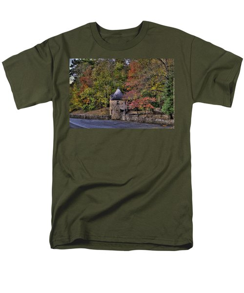 Men's T-Shirt  (Regular Fit) featuring the photograph Old Stone Tower At The Edge Of The Forest by Jonny D