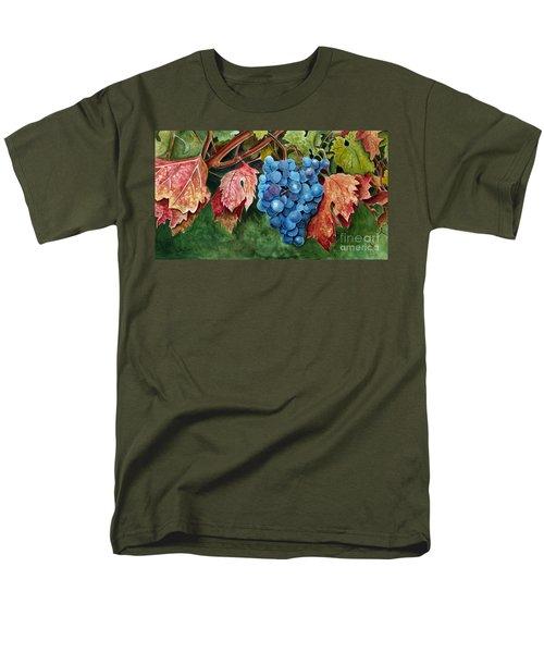 Old Vine Zinfandel Men's T-Shirt  (Regular Fit) by Debbie Hart