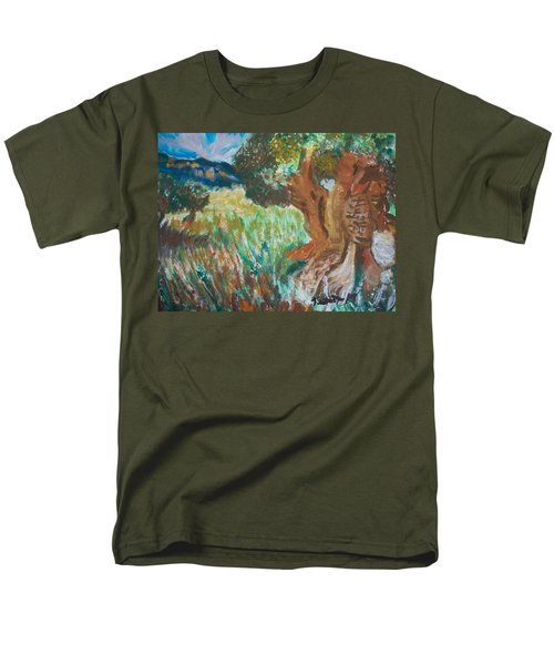 Men's T-Shirt  (Regular Fit) featuring the painting Olive Trees by Teresa White