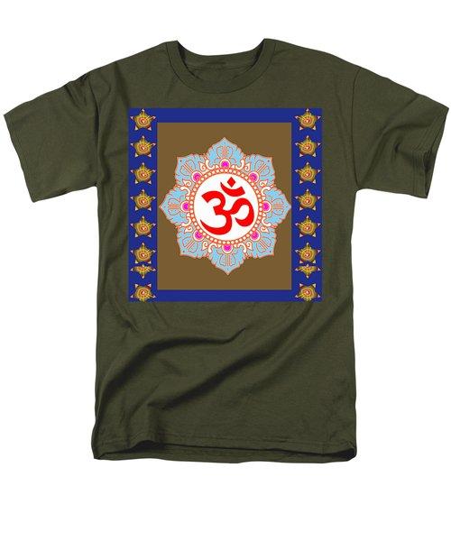 Om Mantra Ommantra Chant Yoga Meditation Tool Men's T-Shirt  (Regular Fit) by Navin Joshi