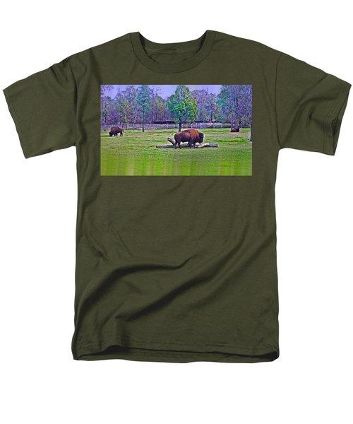One Bison Family Men's T-Shirt  (Regular Fit) by Miroslava Jurcik