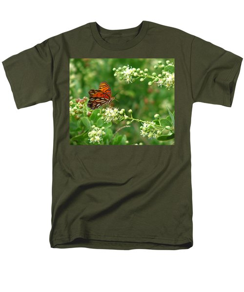 Men's T-Shirt  (Regular Fit) featuring the photograph Orange Butterfly by Marcia Socolik