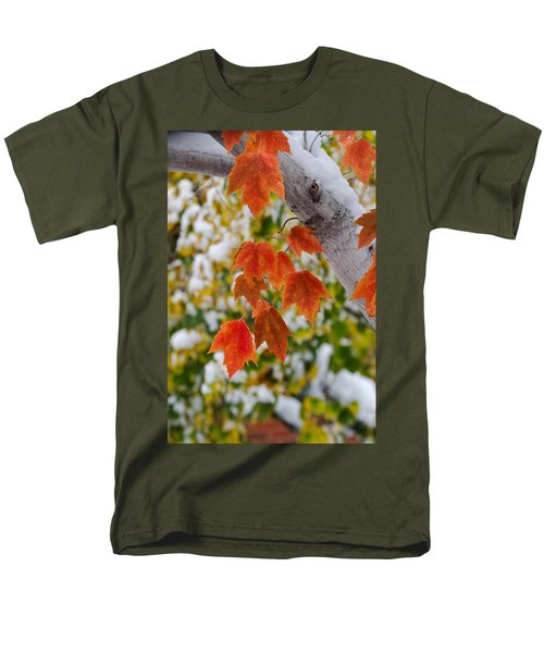 Men's T-Shirt  (Regular Fit) featuring the photograph Orange White And Green by Ronda Kimbrow