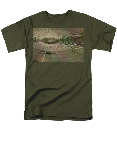 Men's T-Shirt  (Regular Fit) featuring the photograph Orchard Orbweaver #1 by Paul Rebmann