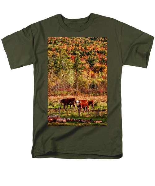Cow Complaining About Much Men's T-Shirt  (Regular Fit) by Jeff Folger