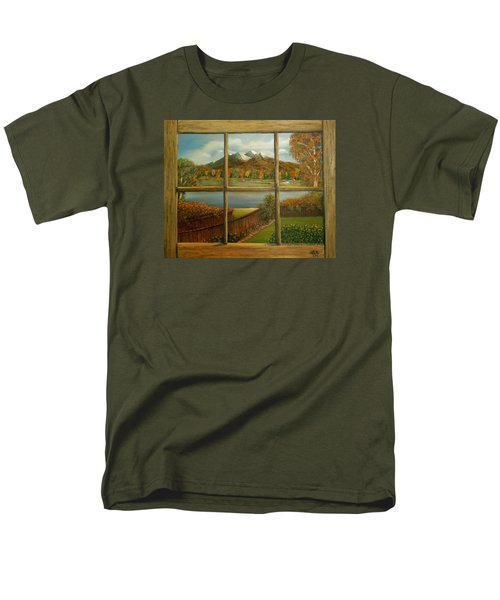 Out My Window-autumn Day Men's T-Shirt  (Regular Fit) by Sheri Keith