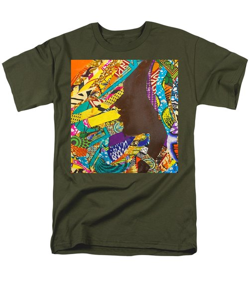 Men's T-Shirt  (Regular Fit) featuring the tapestry - textile Oya I by Apanaki Temitayo M