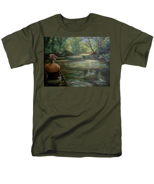 Men's T-Shirt  (Regular Fit) featuring the painting Paddle Break by Donna Tuten