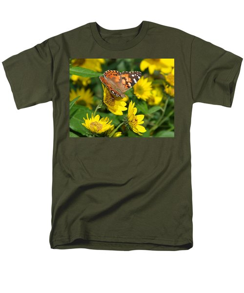 Men's T-Shirt  (Regular Fit) featuring the photograph Painted Lady by James Peterson