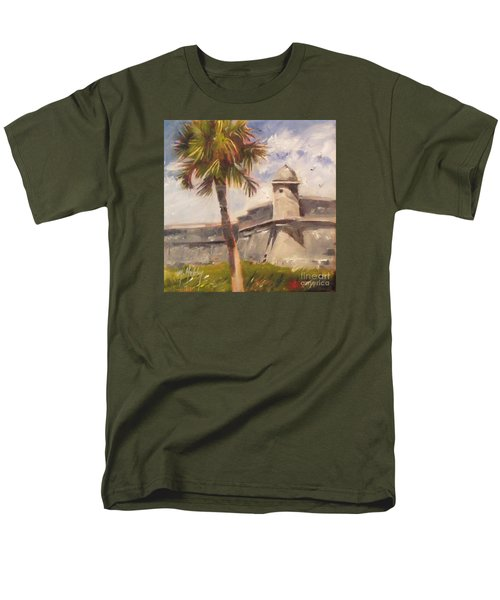 Palm At St. Augustine Castillo Fort Men's T-Shirt  (Regular Fit) by Mary Hubley