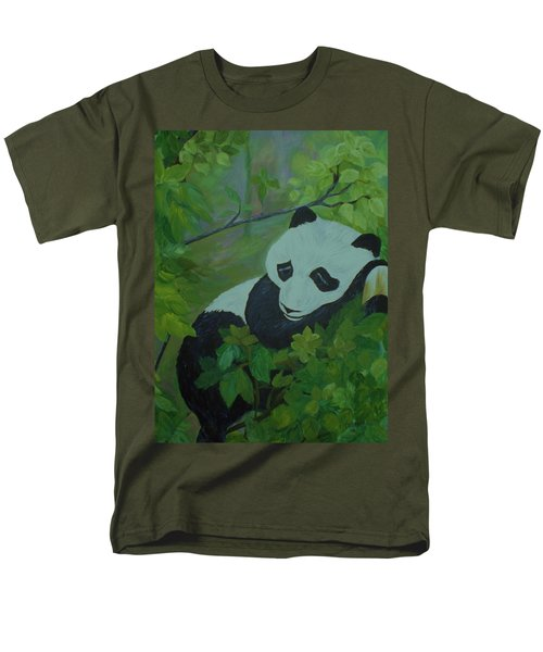 Men's T-Shirt  (Regular Fit) featuring the painting Panda by Christy Saunders Church