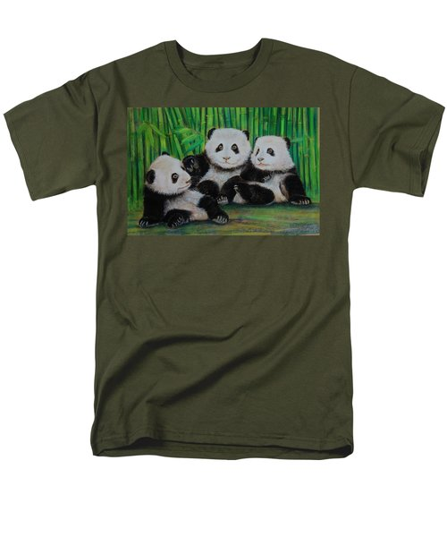 Panda Cubs Men's T-Shirt  (Regular Fit) by Jean Cormier