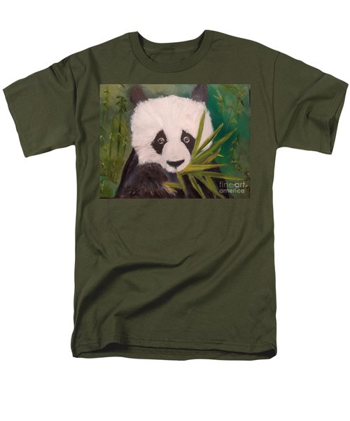Men's T-Shirt  (Regular Fit) featuring the painting Panda by Jenny Lee