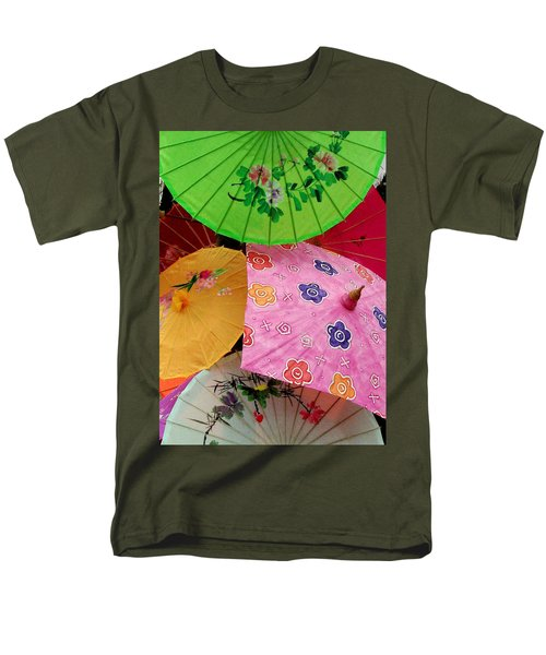 Parasols 2 Men's T-Shirt  (Regular Fit) by Rodney Lee Williams