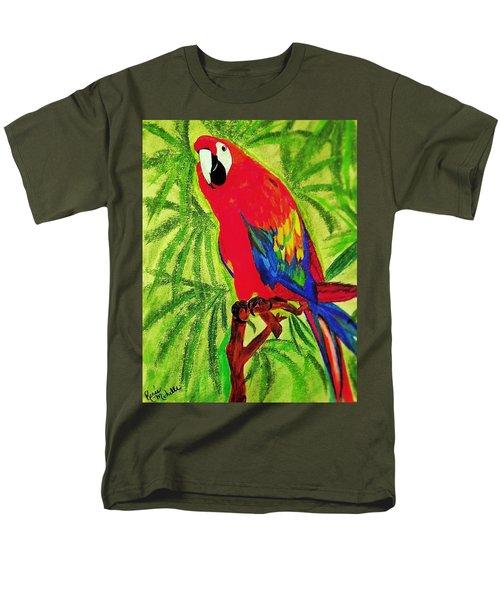 Parrot In Paradise Men's T-Shirt  (Regular Fit) by Renee Michelle Wenker