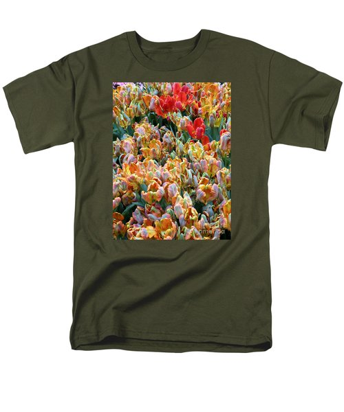Parrot Tulips Men's T-Shirt  (Regular Fit) by Tanya  Searcy