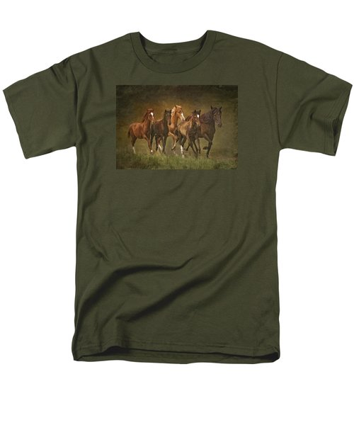 Men's T-Shirt  (Regular Fit) featuring the photograph Paso Peruvians by Priscilla Burgers