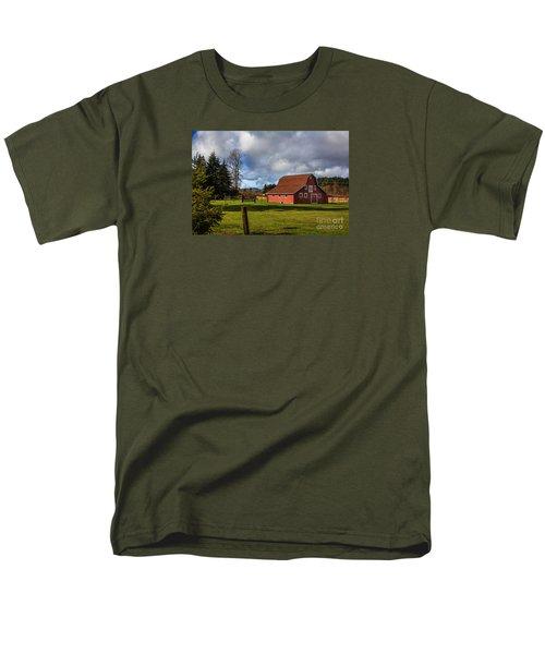 Men's T-Shirt  (Regular Fit) featuring the photograph Pasture For Rent by Jean OKeeffe Macro Abundance Art